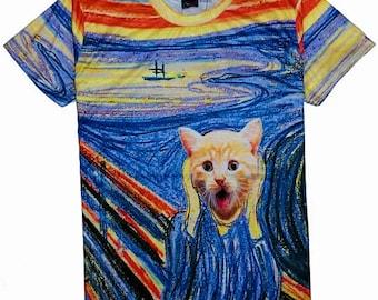 The Scream Painting Cat T-Shirt