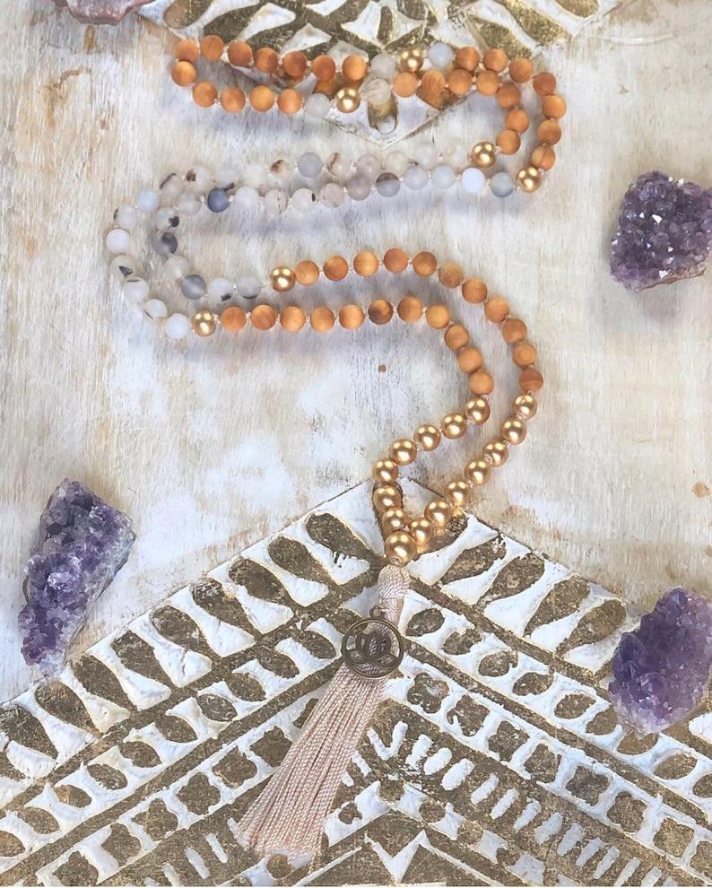 Essential Oil Diffuser Lotus Flower Mala Aromatherapy 108 beads