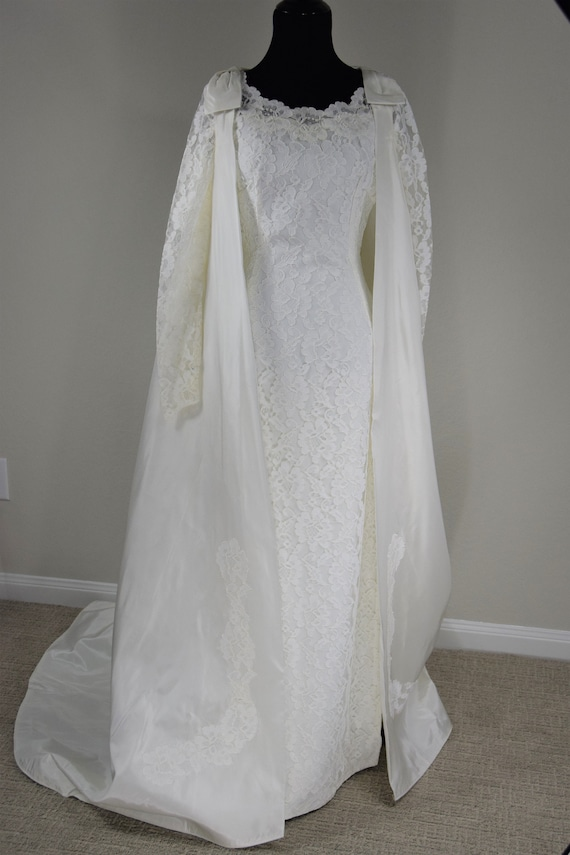 Stunning 60's Wedding Dress and Cape