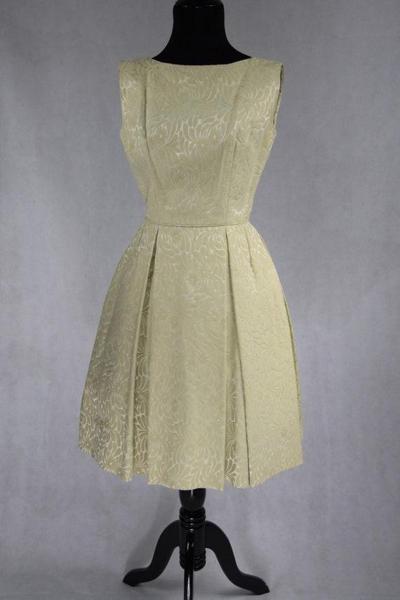 60's Cream Brocade Dress