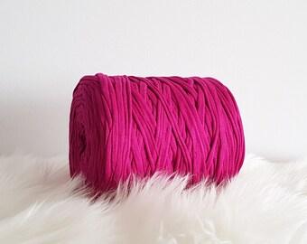 sold by meters, 1 m = 1.09 yd Fuchsia Pink Zpagetti Fuchsia Pink T-Shirt yarn