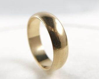 Vintage 9k Gold Band - Wedding Ring -  Stacking Band - c. 1970s - British Hallmarks