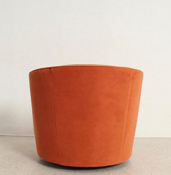 Astounding Burnt Orange Vintage Velvet Swivel Chair Squirreltailoven Fun Painted Chair Ideas Images Squirreltailovenorg