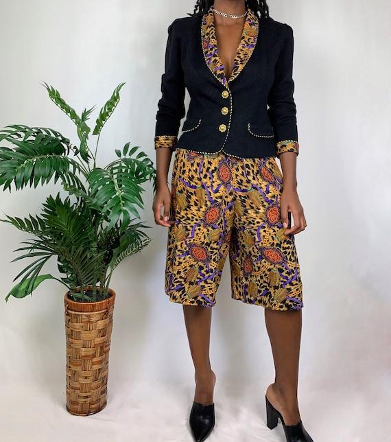 Vintage Upcycled Cheetah Chain Pants Set