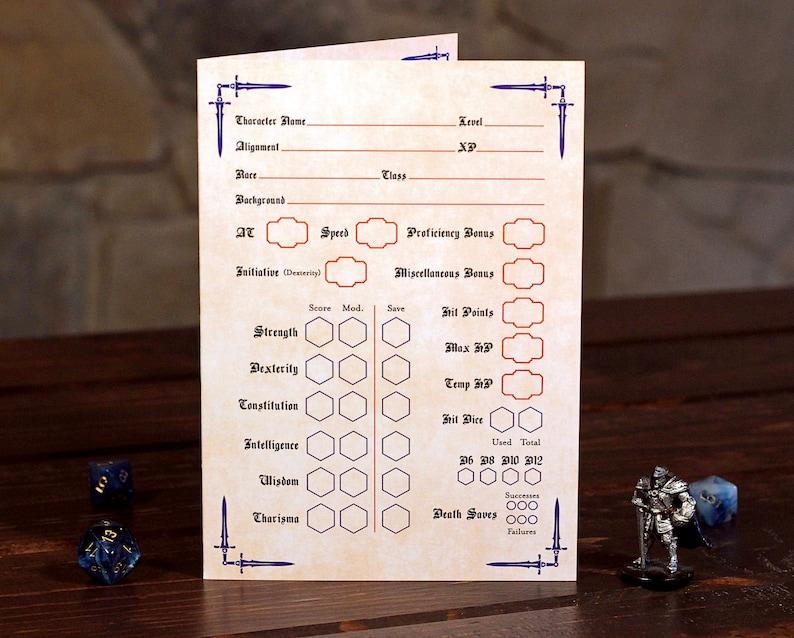 Paladin Design 5e Character Sheet Digital Download | Etsy