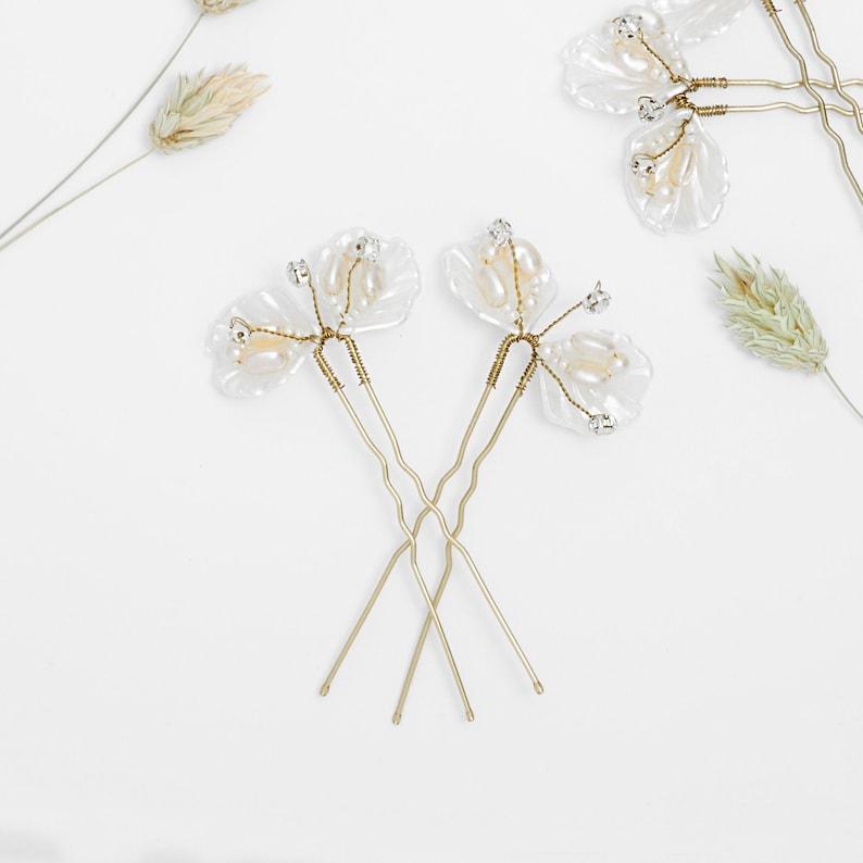 Bridal hair pins Bridal pearl hair pins Bridal hair image 0
