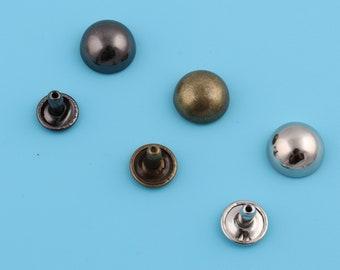 10mm antique brasssilver mushroom dome rivets,double cap round rivets,punk rock leathercraft rivets,rapid stud for bag purse leather crafts