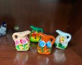 Talavera Pitcher Shakers, Colorful Ceramic Hand Painted Shakers, Salero y Pimentero de Ceramica