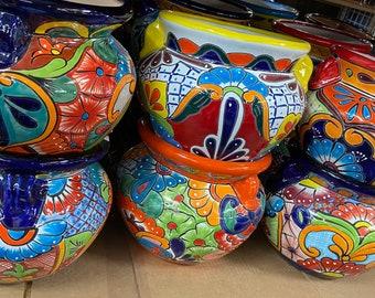 Michoacana Talavera Planter, Ceramic Indoor Pot, Gardening, Outdoor Garden Container, Flower Pot, Spring Garden Decor