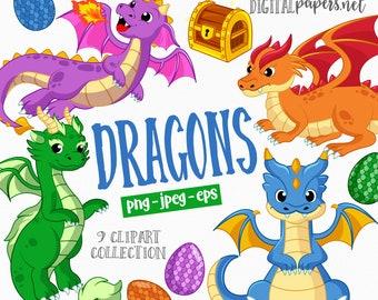 Dragon Clipart Free - Clip Art Dragons - Png Download (#24055) - PinClipart