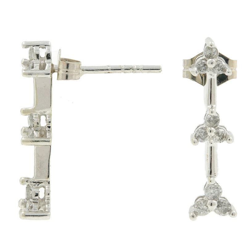 0.50CTW Necklace /& Pendant Set Ladies Estate 10K White Gold Diamond Earrings