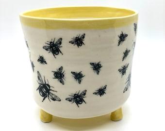 Wildflower Yellow Honeycomb Planter