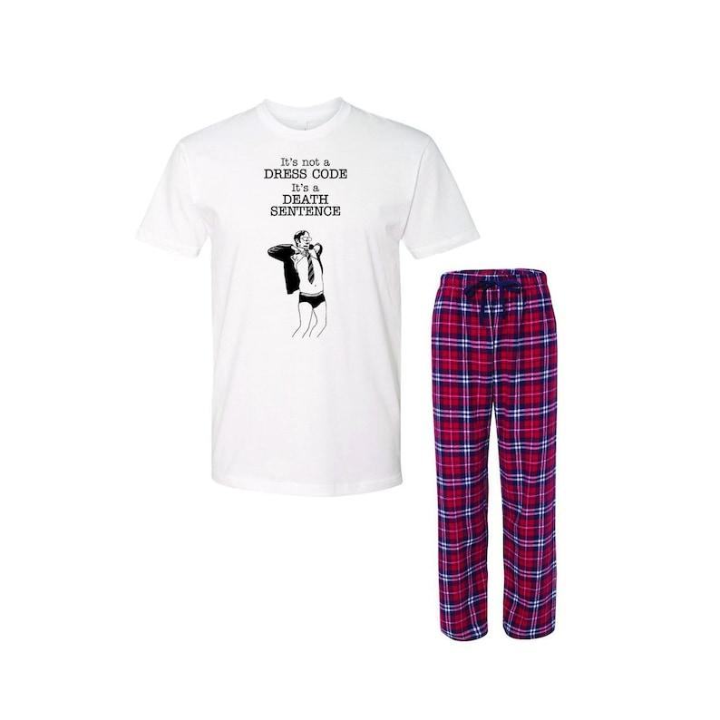 The Office Dwight Dress Code Womens Crewneck Tee Pajamas