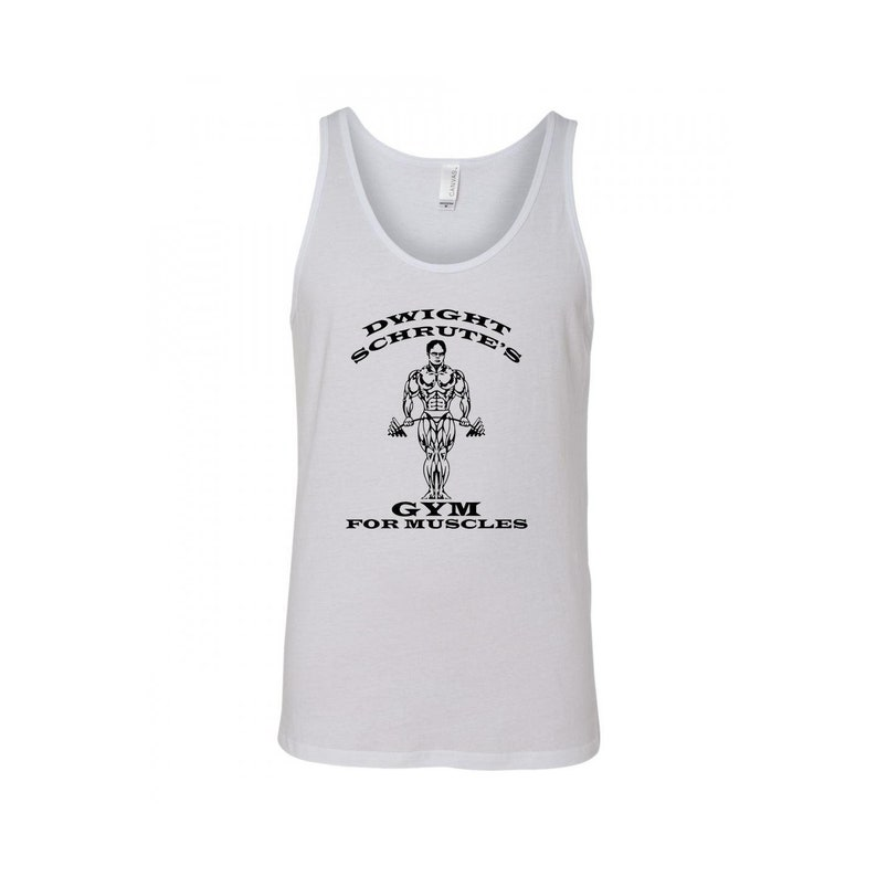 SpiritForged Apparel Dwights Gym for Muscles Mens Tank Top