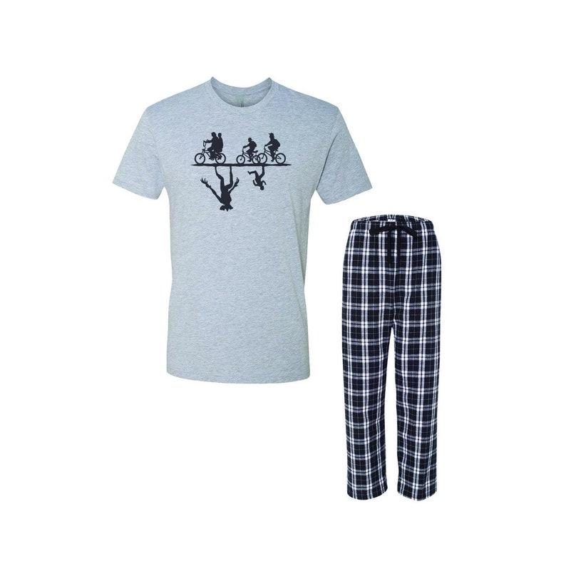 Demon Silhouette Mens Crewneck Tee Pajamas