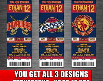 photograph relating to Cavs Printable Schedule identify Cleveland cavaliers birthday Etsy
