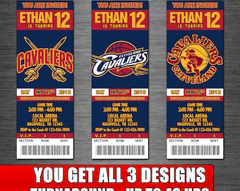 graphic relating to Cleveland Cavaliers Printable Schedule called Cleveland cavaliers birthday Etsy