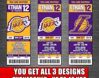 picture relating to Lakers Printable Schedule named Lakers printable Etsy