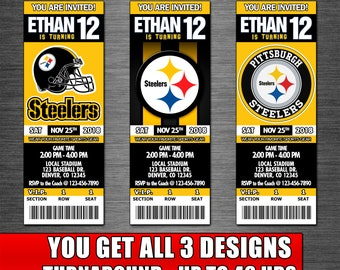 photo relating to Printable Steelers Schedule known as Steelers get together Etsy