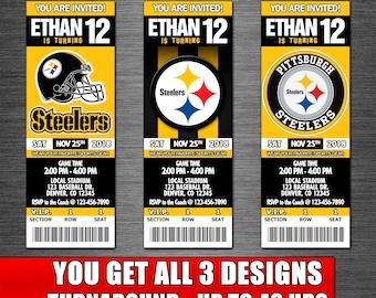 picture regarding Steelers Printable Schedule identify Steelers bash Etsy