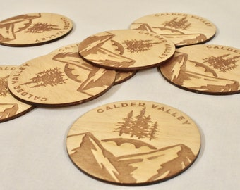 4 X Costa Coffee Drinks Coasters Hand Finished. 3mm Birch Wood