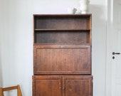 Mid century Secretaire Desk Cabinet by Asko 1950s