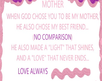 Items Similar To My Mother My Friend So Dear Mother S Day Poem