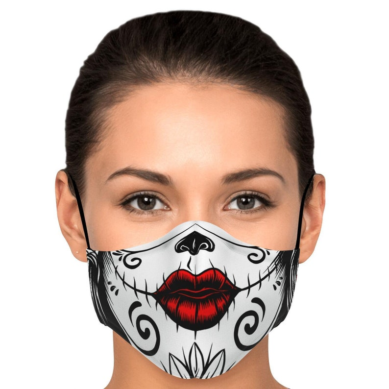 Sugar Skull Make Up Face Mask / Covering image 0