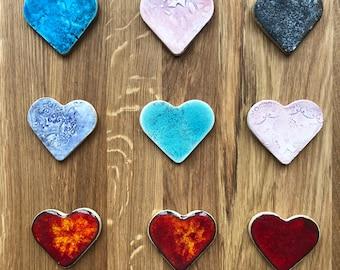 Fridge magnet hearts/ Magnets fridge / Heart magnet / Ceramic Magnet