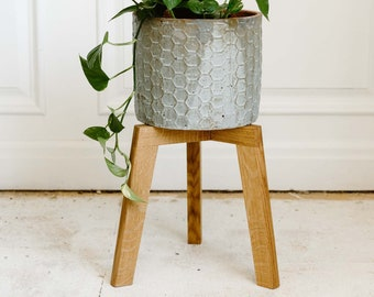 White Oak Plant Stand   Modern Wooden Plant Stand   Solid Wood Plant Stand   Georgette by Lundy Furniture