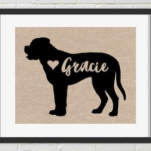 Mastiff gifts Neapolitan mastiff memorial gift Wall art Decor Sign Personalized gift Custom print Dog mom dad Neapolitan mastiff art