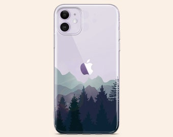 coque iphone 12 mountain forest