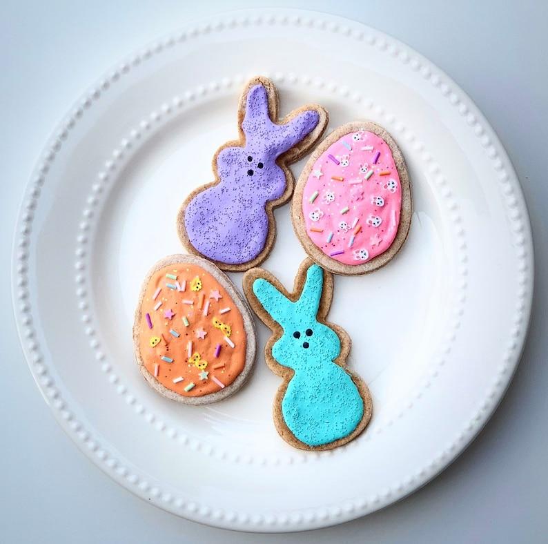 Faux Peep Cookies \u2022 Fake Sugar Cookies \u2022 Fake Cutout Cookies \u2022 Fake Cookies \u2022 Easter Decor \u2022 Tired Tray Decor \u2022 Pretend Food \u2022 Fake Food