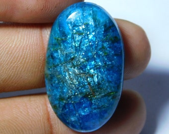 Natural Apatite Cabochon Top Grade Apatite Loose Stone Jewelry Excellent Quality /& Amazing Blue Apatite Gemstone 42 Ct 33X23 mm #8715