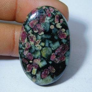 43x22x7 mm Eudialyte Druzy Cabochon  Top Grade Eudialyte Druzy Gemstone  Oval Shape  66.55 Ct Loose Gemstone  I-451