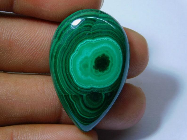 Top Quality Green Malachite Loose Gemstone Semi Precious Stone For Jewelry 62 Ct 38X25 mm #5872 Top Royal Natural Green Malachite Cabochon