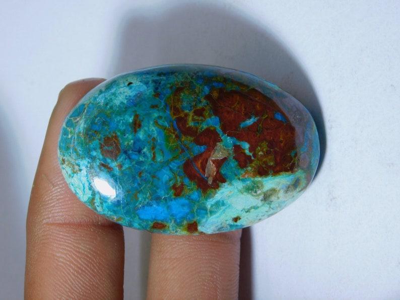 Very Rare 113 Ct 48X31 mm #5987 Natural Chrysocolla Gemstone Hand Polish AA++ Chrysocolla Loose Stone Semi Precious Handcraft For Jewelry