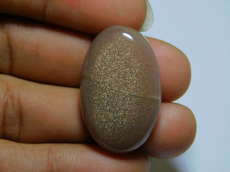 Natural Peach moonstone Cabochon Oval Shape Gemstone Moonstone Stone Loose Gemstone For Hand Polish Jewelry Making 45 Ct 32 X 20 Mm #7060