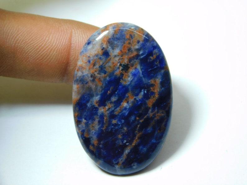 Top Quality Sodalite Gemstone Natural Blue /& Orange Sodalite Cabochon Jewelry Making Semi Precious Loose Stone 54 Ct 41X27 MM #6679 Rare