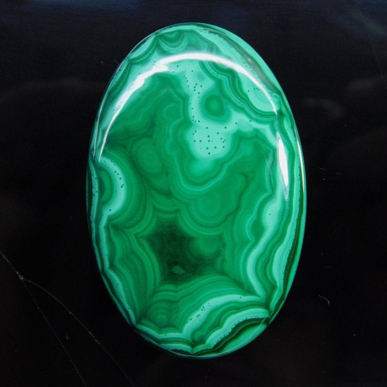 Natural Green Malachite  Cabochon Jewelry making Semi Precious Gemstone Top Quality Malachite Oval Loose Stone 213 Ct 55 X 35 mm #1946