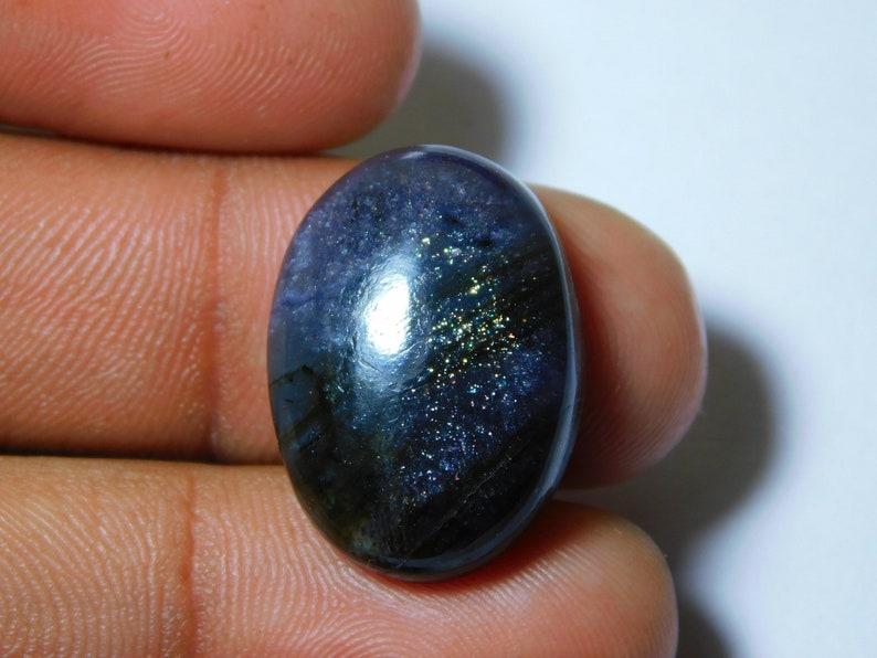 23 Ct 23X17 mm #5142 Natural Iolite-Sunstone Gemstone Iolite-Sunstone Cabochon Iolite-Sunstone Loose Semi Precious Iolite-Sunstone Jewelry