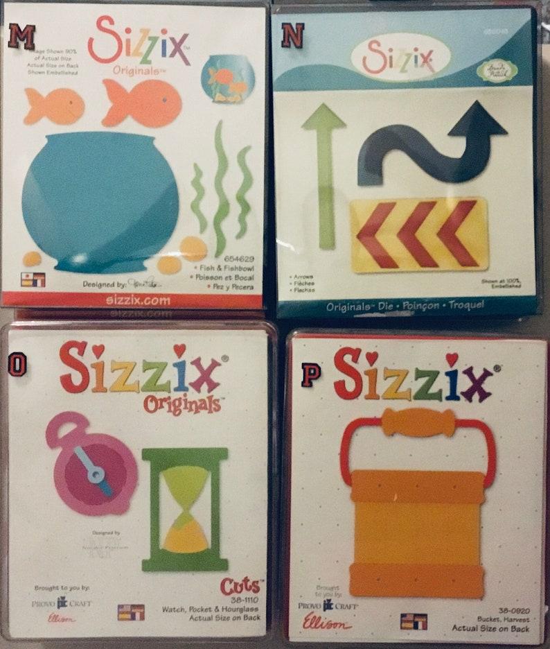Sizzix Dies Original  Group 10  Sixteen LARGE DIES