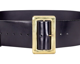 FREE UK DELIVERY Double D-ring leather strap ST-12-LEATHER