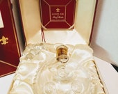 Vintage Remy Martin Champagne of Cognac Baccarat Crystal Decanter in Original Metal Display Case and Box Louie Xlll Barware