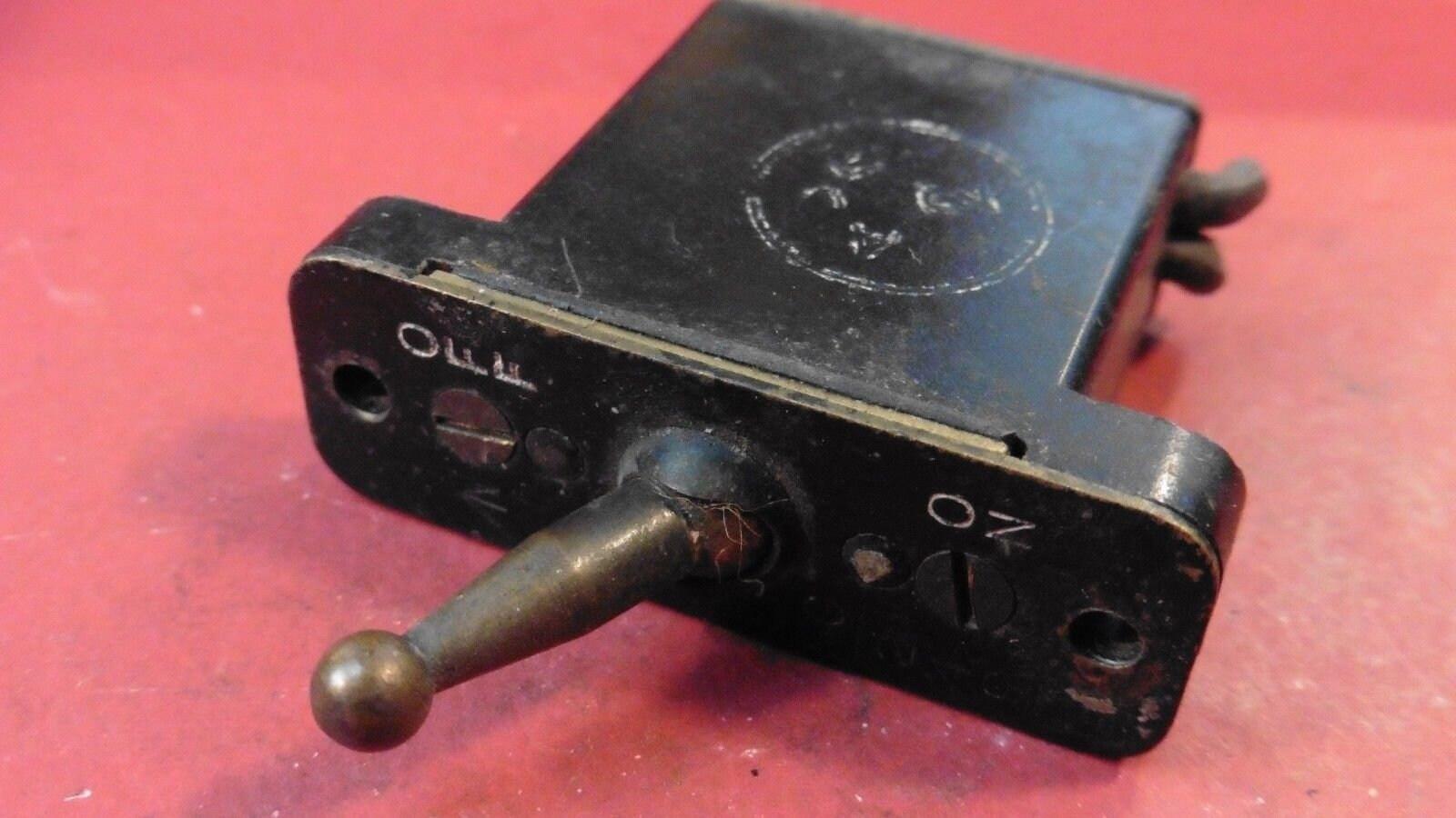 Vintage RAF Spitfire Supercharger Switch