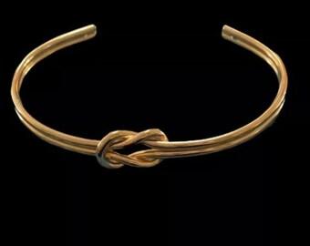 Gilded knot bangle