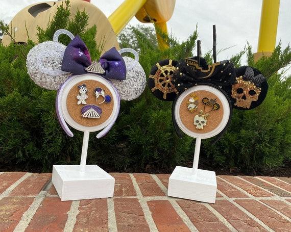 Disney Minnie Ear Shelf Display, Cork Pin Display, headband display stand