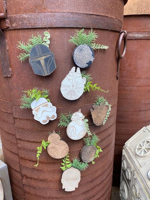 Star Wars mini plants , Star Wars Magnets, Star Wars Kitchen Decor, Disney Magnets