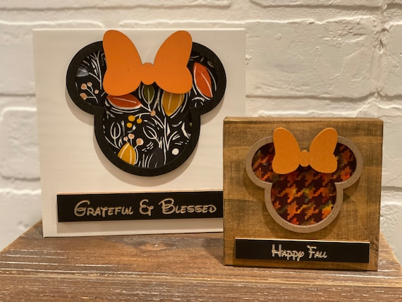 Fall Disney Inspired Wood Blocks , Tiered Tray Disney Holiday Decor.