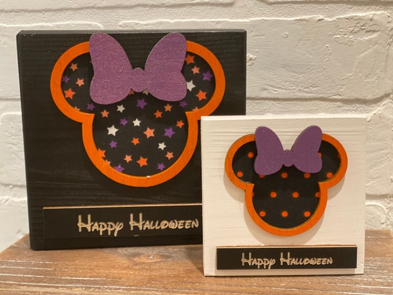 Halloween Disney Inspired Wood Blocks , Tiered Tray Disney Holiday Decor.